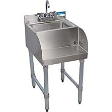 "BK Resources BKUBS-1410BSS 18""Wx21-1/4""D Stainless Steel Blender Station w/ Dump Sink"