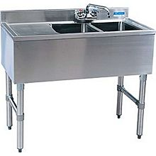 "BK Resources BKUBW-236LS 36""Wx18-1/4""D Stainless Steel Slimline Underbar Sink"