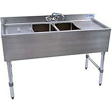 "BK Resources BKUBW-248TS 48""Wx18-1/4""D Stainless Steel Slimline Underbar Sink"