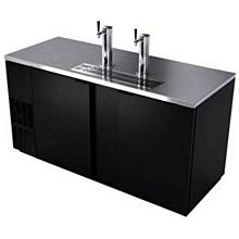 "BK Resources DBC-22-69 69"" 3 Keg Draft Beer Cooler w/ Black Vinyl Exterior"