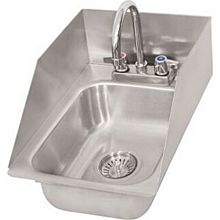 "BK Resources DDI-1014524S-P-G 10""x14""x5"" Stainless Steel Deep Drawn Drop-In Sink"