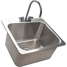 "BK Resources DDI-20161224-P-G 23""x21"" Stainless Steel Deep Drawn Drop-In Sink"