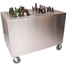 """BK Resources PBC-3048S 48""""W x 30""""D Portable Stainless Steel Beverage Center"""