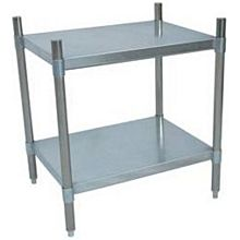 "BK Resources SSU3-3124 31""Wx24""Dx38""H Stainless Steel Dry Storage Shelving Unit"