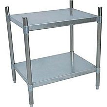 "BK Resources SSU3-5524 55""Wx24""Dx38""H Stainless Steel Dry Storage Shelving Unit"