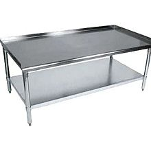 "BK Resources VETS-3630 Economy 30"" x 36"" Stainless Kitchen Equipment Stand"
