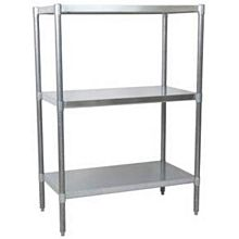 "BK Resources VSU5-3124 31""Wx24""Dx60""H Galvanized Steel Dry Storage Shelving Unit"