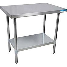 "BK Resources VTT-1830 30""Wx18""D Economy Stainless Steel Work Table"