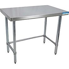 "BK Resources VTTOB-3024 30""Wx24""D Economy Stainless Steel Open Base Work Table"