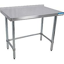 "BK Resources VTTROB-1830 30""Wx18""D Economy Stainless Steel Open Base Work Table"