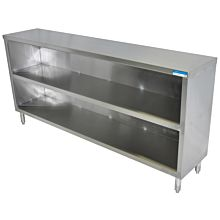 """BK Resources BKDC-1560 60""""W x 15""""D Stainless Steel Open Front Dish Cabinet"""