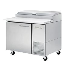 """Blue Air BAPP44-HC 44"""" Refrigerated Pizza Prep Table with One Swing Door - 11.3 Cu. Ft."""