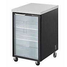 Blue Air BBB23-1BG-HC 23'' Black One Glass Door Bar and Beverage Cooler - 7.9 Cu. Ft.