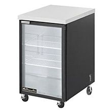 """Blue Air BBB23-1SG-HC 23"""" Stainless Steel One Glass Door Bar and Beverage Cooler - 7.9 Cu. Ft."""