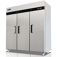 "Migali C-3F-HC 78"" Triple Solid Door Reach-In Freezer- 72 Cu. Ft."