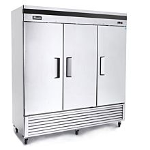 "Migali C-3FB-HC 82"" (Bottom Mount) Triple Solid Door Reach-In Freezer"