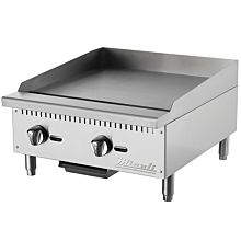 "Migali C-G24 24"" Gas Countertop Griddle with Manual Controls"