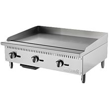 "Migali C-G36 36"" Gas Countertop Griddle with Manual Controls"