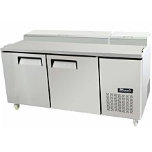Migali C-PP67-HC Commercial Two Door Pizza Prep Table