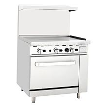 "Migali C-RO-36G 36"" Gas Range Griddle with Oven"