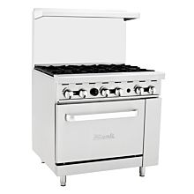 "Migali C-RO6 36"" 6 Burner Gas Range with Oven"