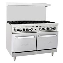 "Migali C-RO8 48"" 8 Burner Gas Range with 2 Ovens"