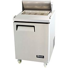 "Migali C-SP27-8 28"" Standard Top Bain Marie Sandwich Prep Refrigerator - 8 Pans"
