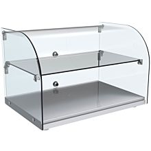 "Marchia CA45 22"" Countertop Dry Curved Glass Food Display Case"