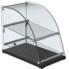 "Marchia CA70 14"" Extra Deep Curved Glass Dry Countertop Food Display Case"