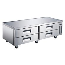 "Universal CBI-72 72"" Four Drawer Refrigerated Chef Base"