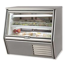 "Leader CDL48M 48"" Refrigerated Counter Height Raw Meat Deli Case with Gravity Coil Refrigeration"