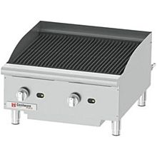 "Cecilware CCP24 24"" Countertop Gas Charbroiler w/ Cast Iron Grates, (2) Burner"
