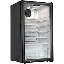 """Cecilware CTR3.75 19"""" 1 Swing Glass Door Countertop Refrigerated Merchandiser"""