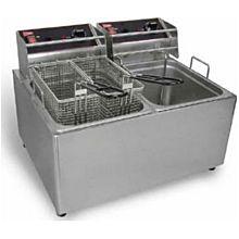 Cecilware EL2X15 Countertop Electric Fryer - (2) 15 lb Vat, 120v