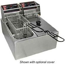 Cecilware EL2X6 Countertop Electric Fryer - (2) 6 lb Vat,120v