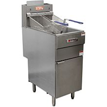 Cecilware FMS403NAT Gas Fryer - (1) 40 lb Vat, Floor Model, NG