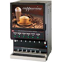Cecilware GB6M10-LD-U 6-Flavor Cappuccino Machine w/ (1) 10 lb & (5) 5 lb Hoppers, 120v