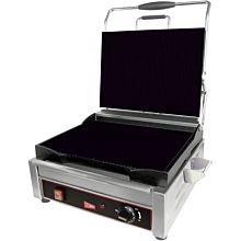 Cecilware SG1LF Commercial Panini Press w/ Cast Iron Smooth Plates, 120v