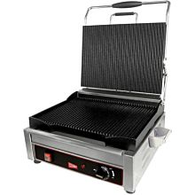 Cecilware SG1LG240 2,400 Watt Panini Sandwich Grill, Single, Ribbed Top & Bottom