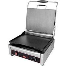Cecilware SG1SF 1,800 Watt Panini Sandwich Grill, Single, Flat Top & Bottom