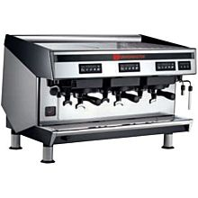 Cecilware TRI MIRA Semi-Automatic Espresso Machine w/ 3 Groups & 4.2 gal Boiler, 230v/1ph