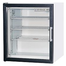 Beverage-Air CF3-1-W White Countertop Display Freezer with Swing Door
