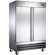 """Coldline CFD-2FF-HC 54"""" Double Solid Door Reach-In Freezer - 47 Cu. Ft."""