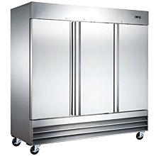 """Coldline CFD-3FF-HC 81"""" Triple Solid Door Reach-In Freezer - 72 Cu. Ft."""