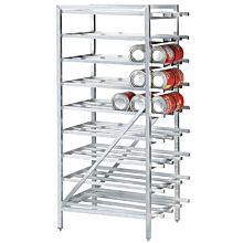 "Global CNR-8 27"" Square Tubing Knock-down Can Rack"