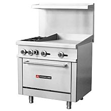 36 inch commercial range with 24 inch griddle