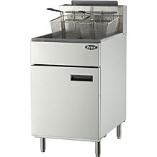 "Atosa CookRite ATFS-75 21"" 75 lb. Gas Free Standing Fryer - 150,000 BTU"