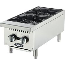 "Atosa CookRite ATHP-12-2 12"" Gas Hot Plate, Countertop, Standard Duty - 50,000 BTU"