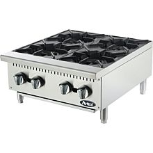 "Atosa CookRite ATHP-24-4 24"" Gas Hot Plate, Countertop, Standard Duty - 100,000 BTU"