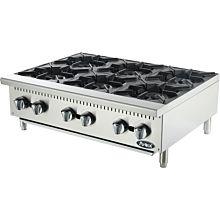 "Atosa CookRite ATHP-36-6 36"" Gas Hot Plate, Countertop, Standard Duty - 150,000 BTU"